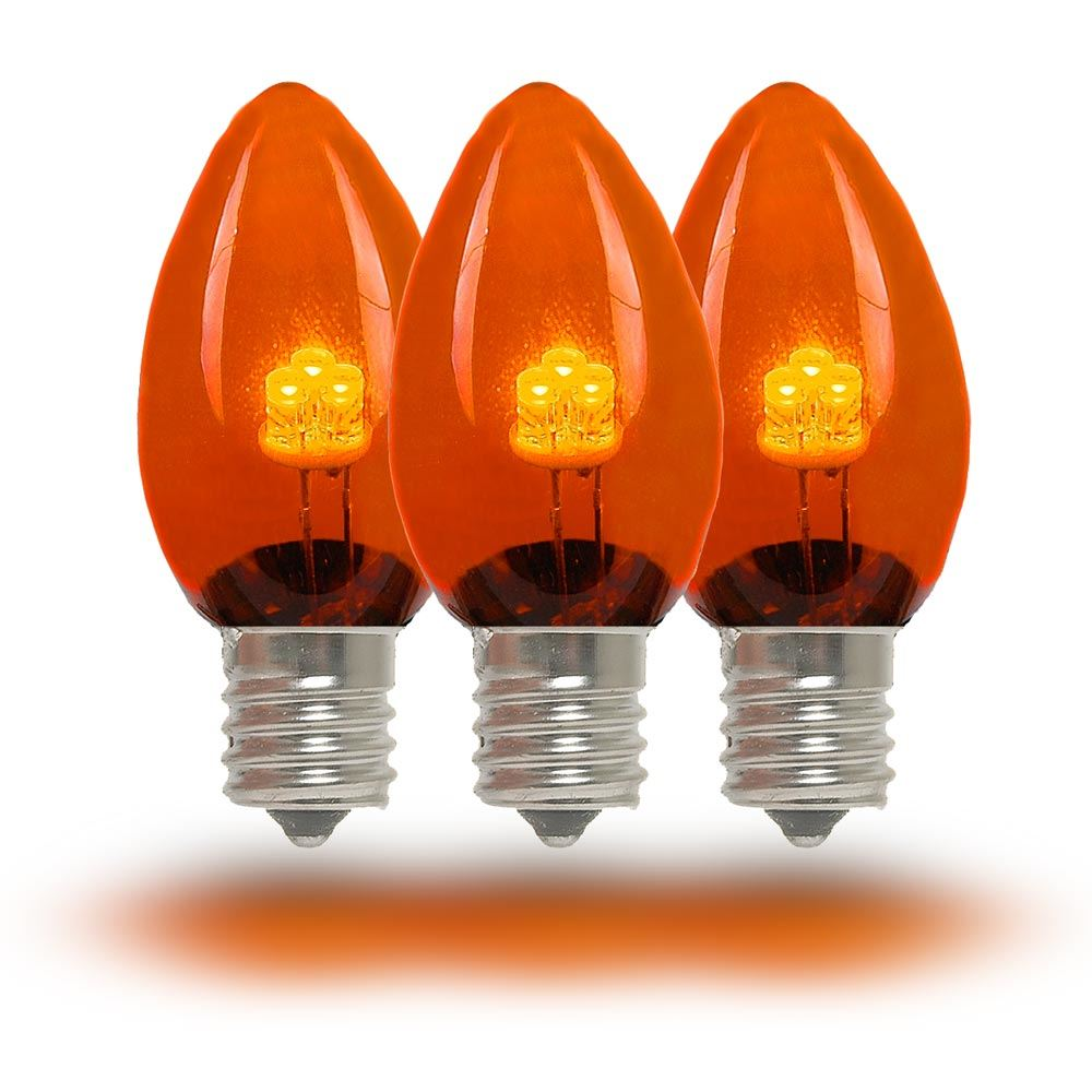 Picture of C7 - Orange/Amber - Glass LED Replacement Bulbs - 25 Pack