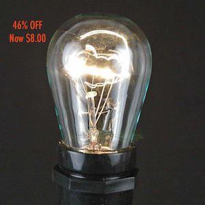 Picture of 25 Pack of Clear S14 11 Watt Bulbs Medium Base e26 *SALE*