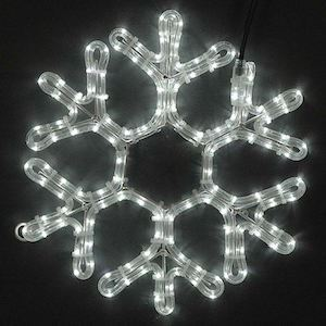 "Picture of 15"" LED Rope Light Snowflake-Cool White"