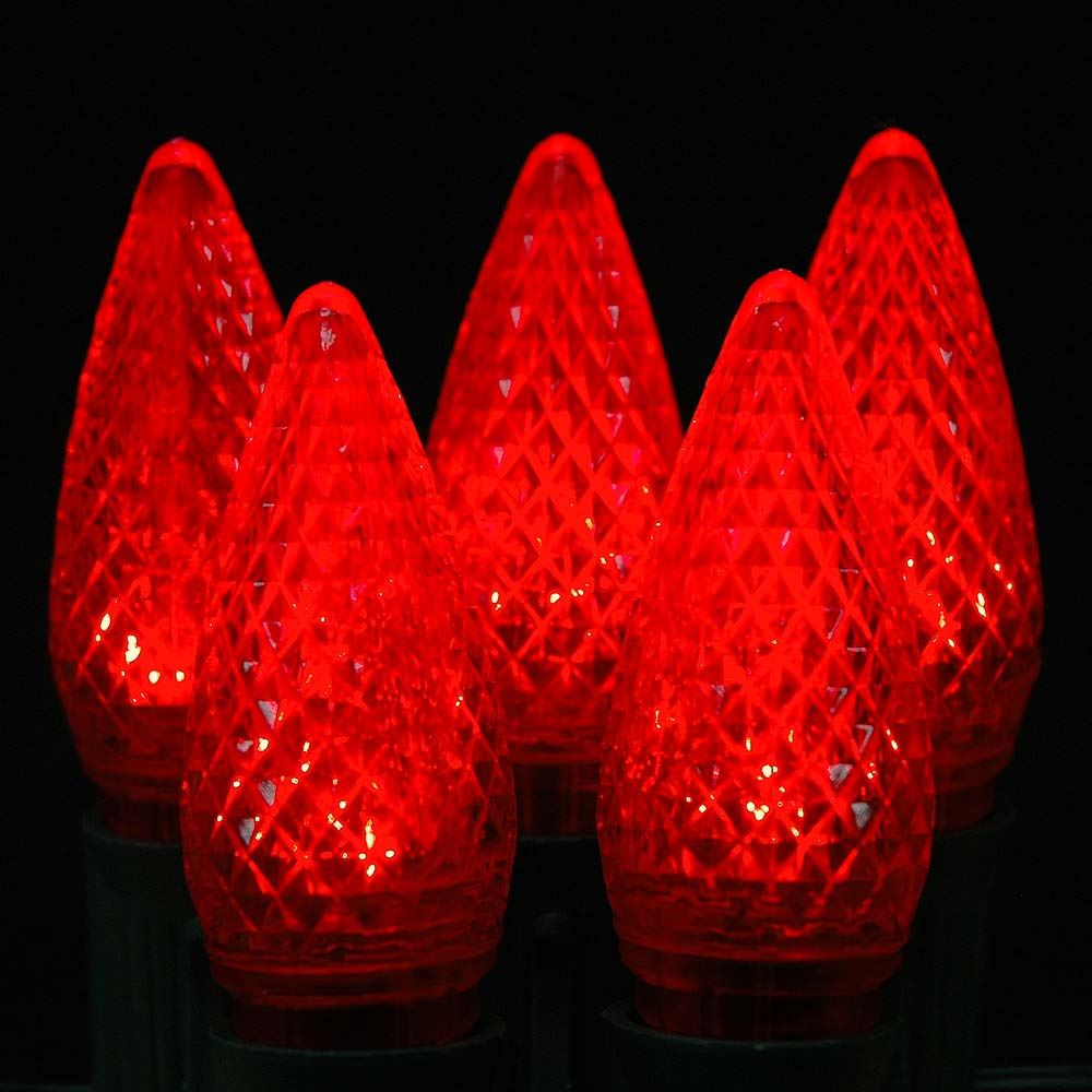 Picture of Red C9 LED Replacement Bulbs 25 Pack