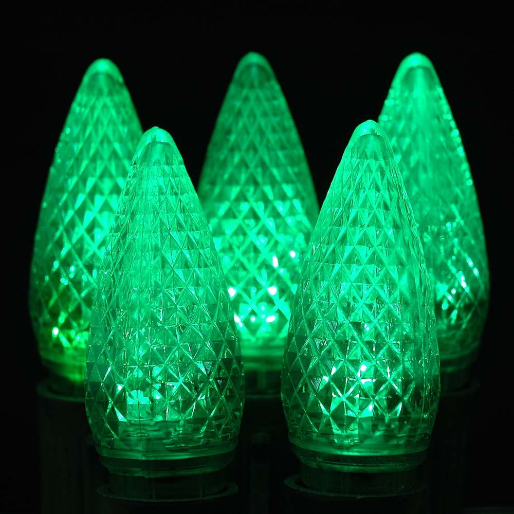 Picture of Green C9 LED Replacement Bulbs 25 Pack