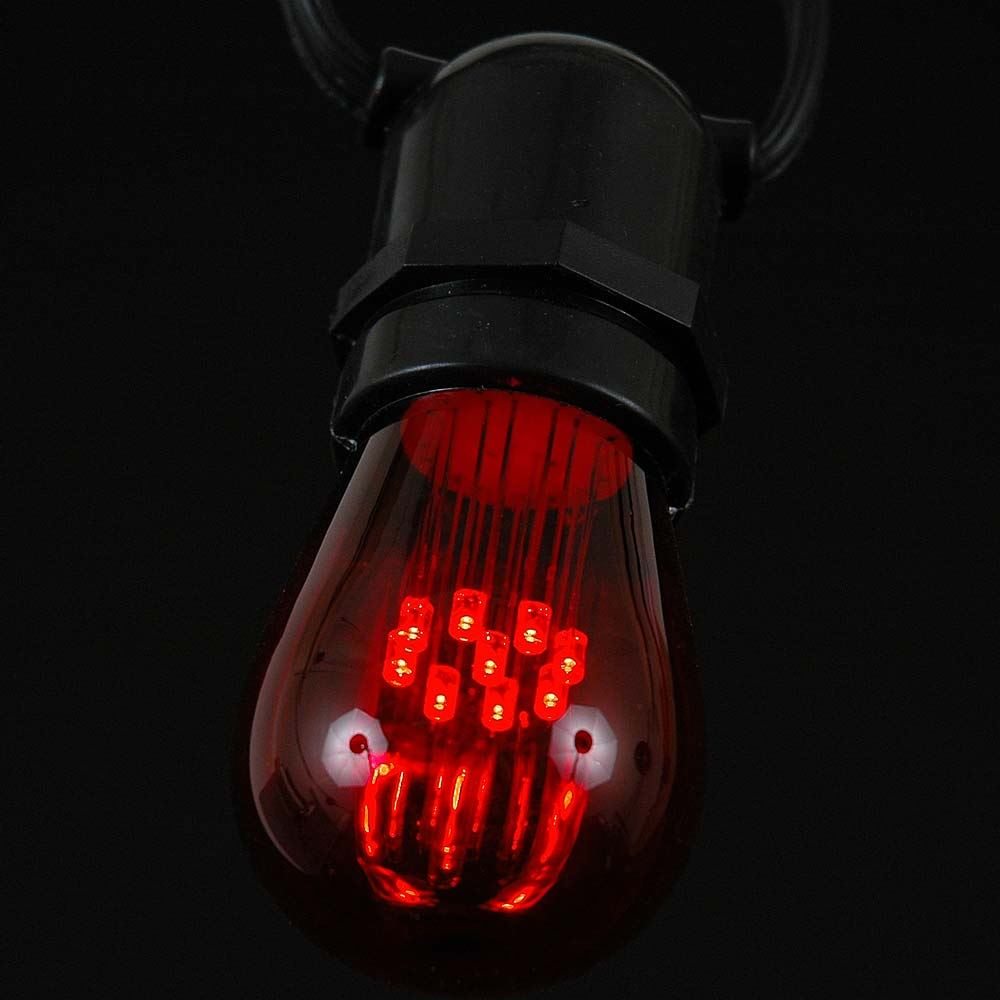 Picture of Red S14 LED Medium Base e26 Bulbs w/ 9 LEDs - 5pk
