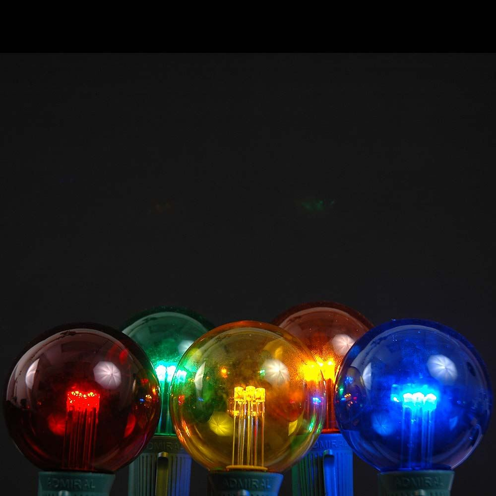 Picture of Multi Colored LED G50 Globe Bulbs - 5pk