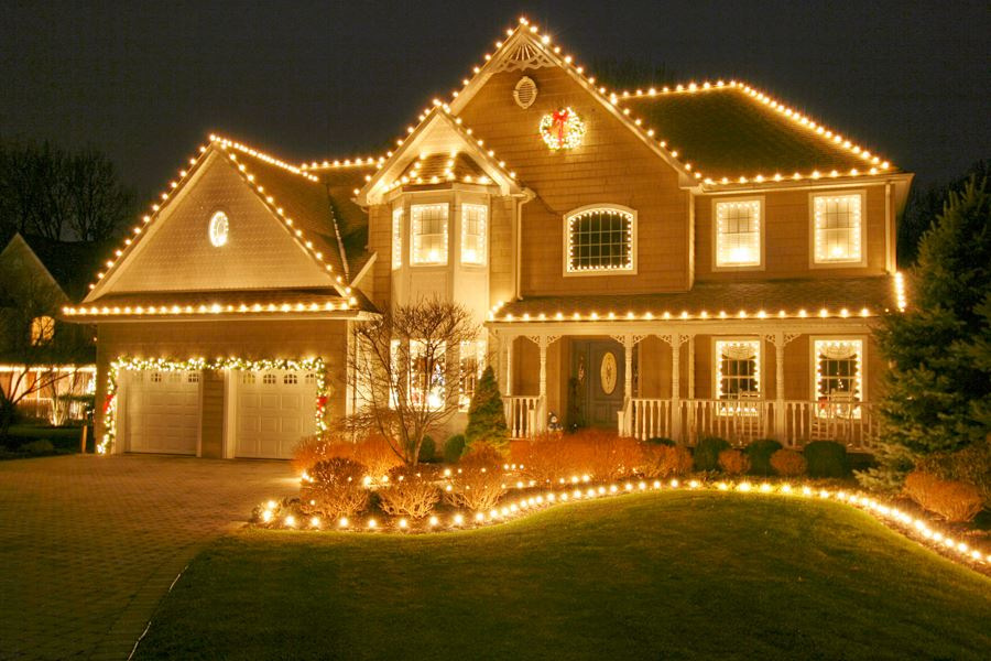 Warm White LED C7 Glass Christmas Bulbs - Novelty Lights