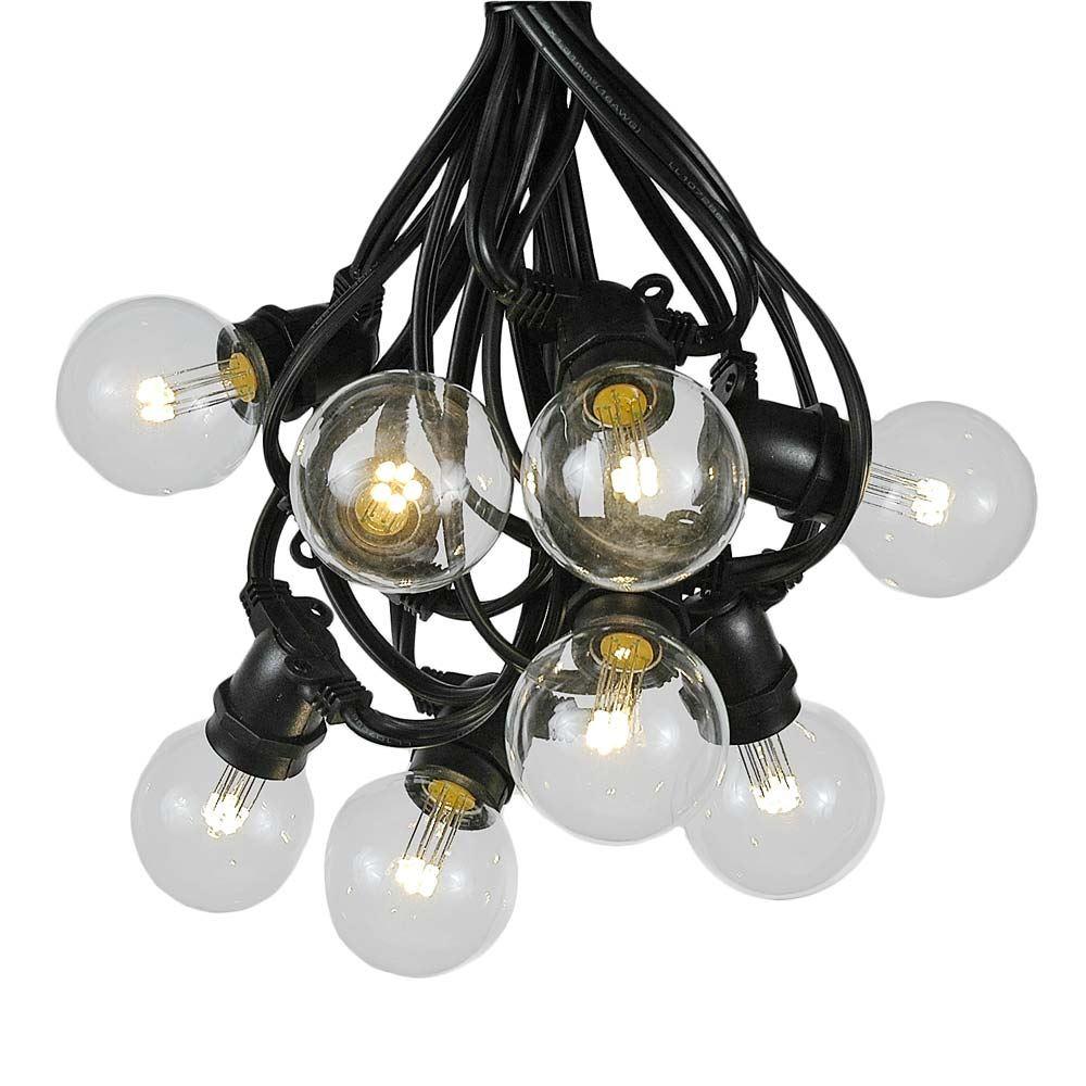Picture of 80 Warm White LED G50 Commercial Grade Intermediate Base Light Set