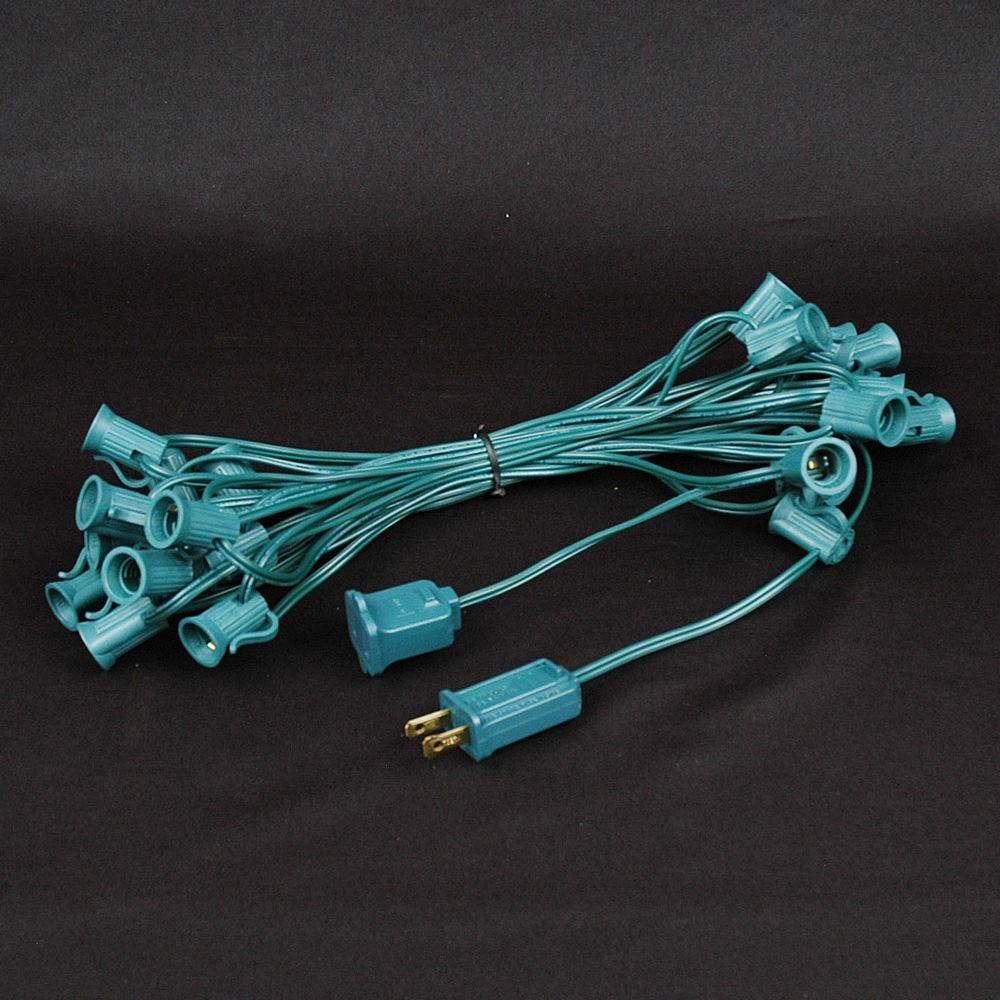 "Picture of C7 25' Stringers 12"" Spacing Green Wire"