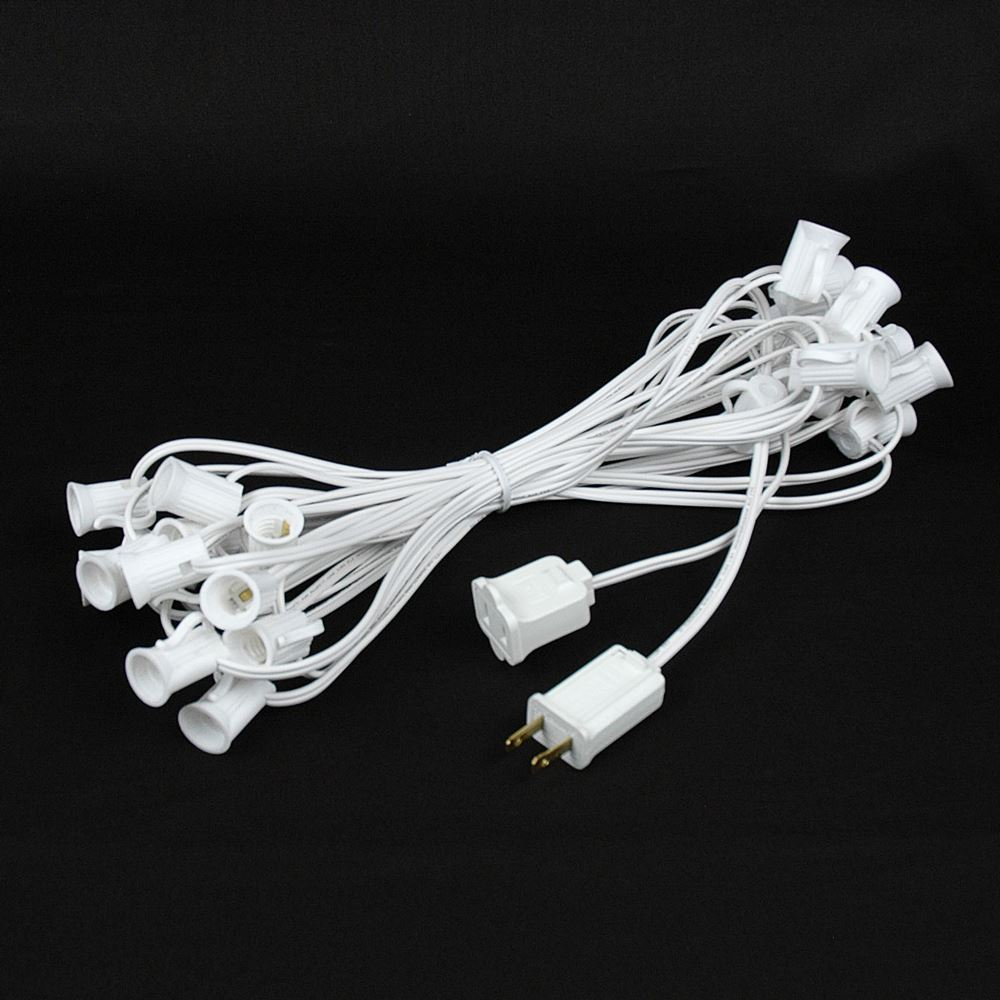"Picture of C7 25' Stringers 12"" Spacing White Wire"