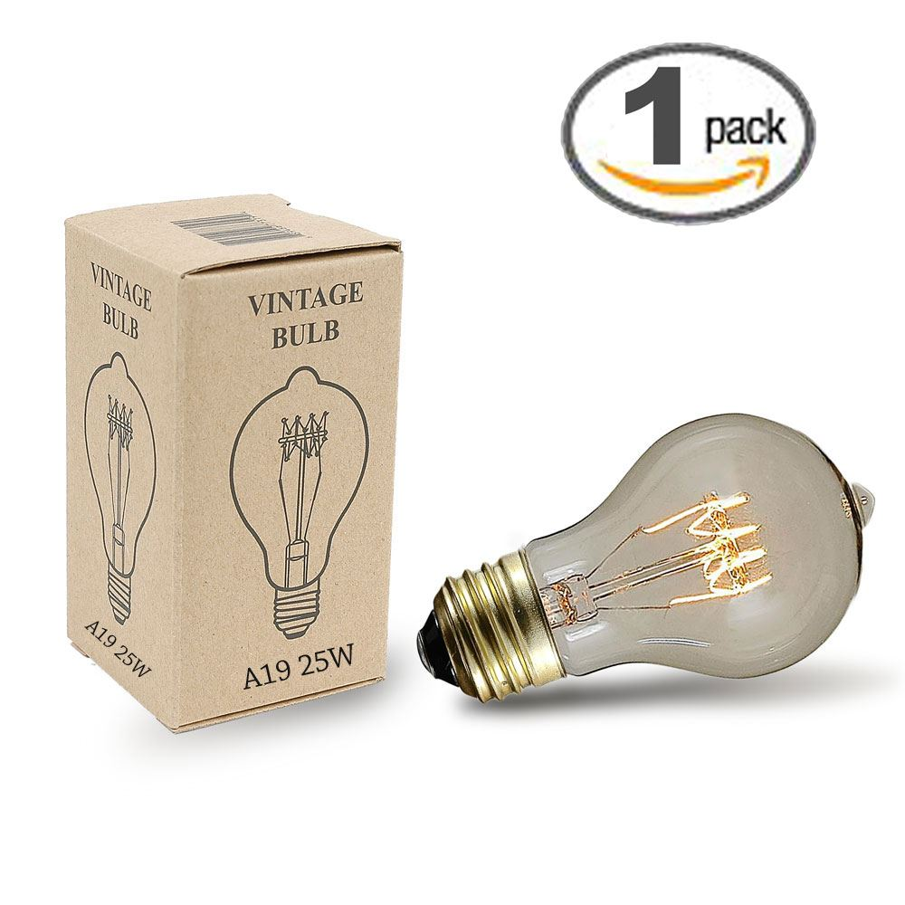 A45 4 Watt Led Bulb 20w Replacement With E26 E27 Medium: Buy 25w A19 Vintage Edison Style Filament Bulbs