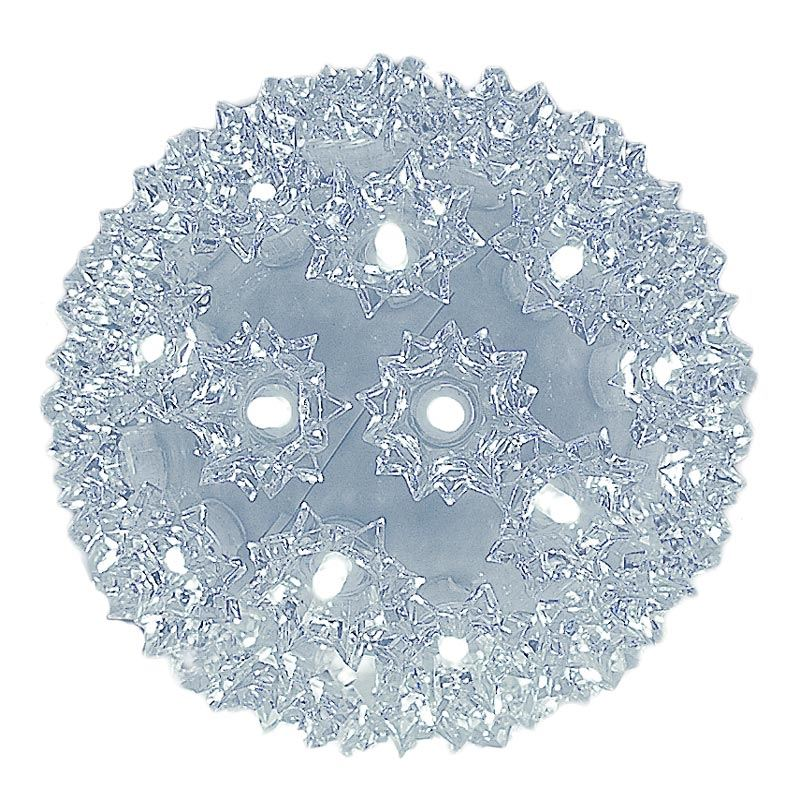 """Picture of 50 Twinkle LED 6"""" Sphere Pure White"""