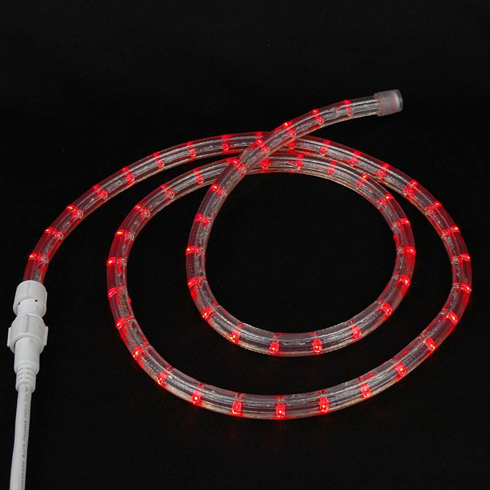 "Picture of Red Custom 12 Volt LED Rope Lights 1/2"" 2 Wire"