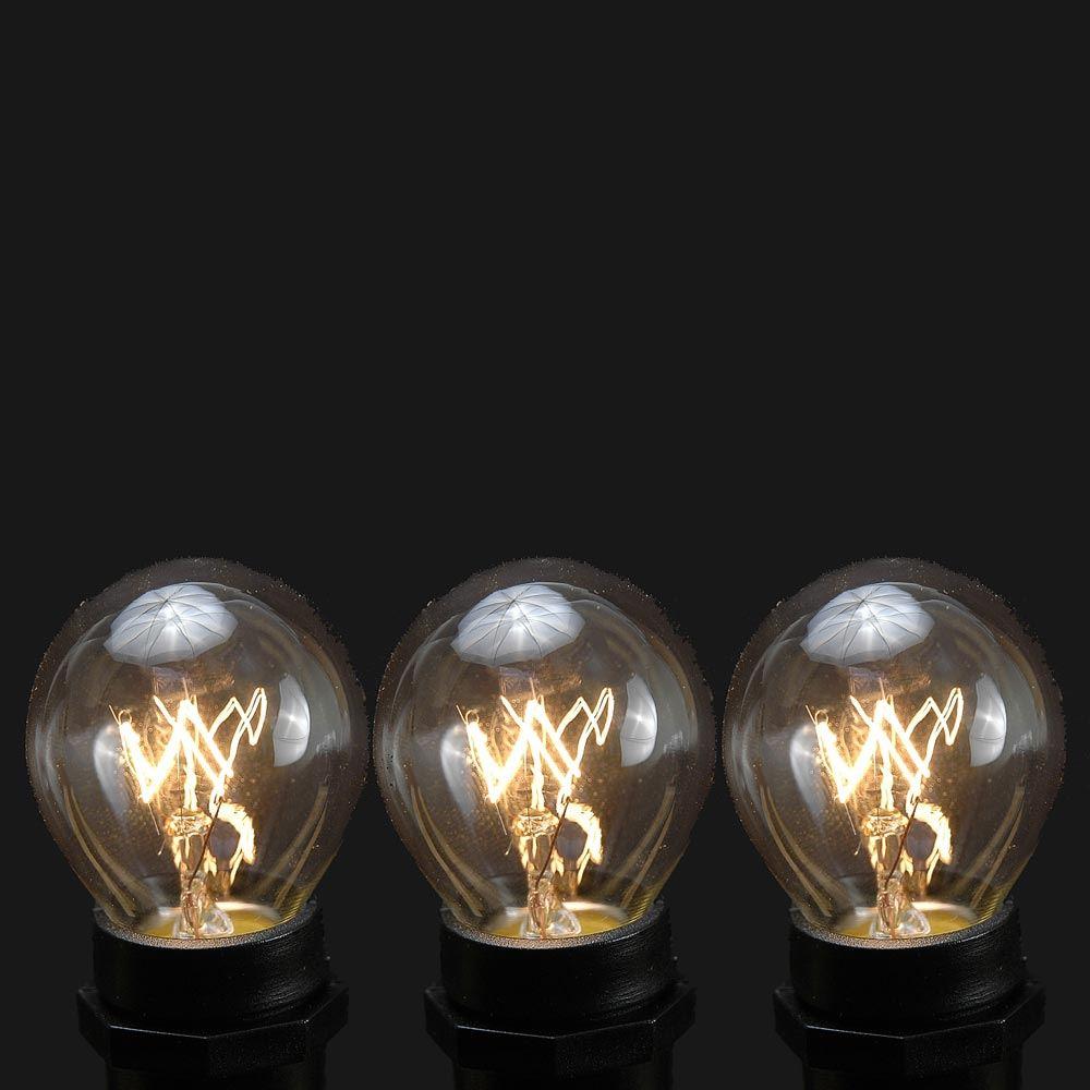 Picture of 25 Pack of Clear S11 10 Watt Bulbs Intermediate Base e17