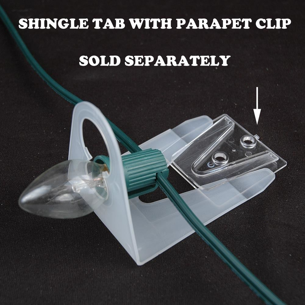 25 Pack Of Shingle Tabs For C7 And C9 Sockets Lamps