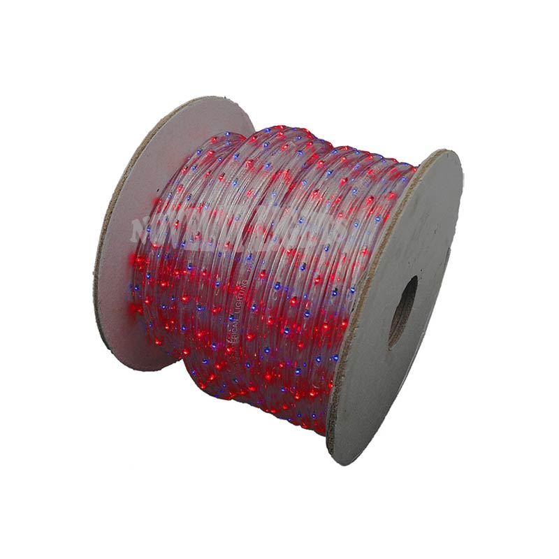 Picture of Red/Blue 150 Ft Chasing Rope Light Spools, 3 Wire 120v 1/2""