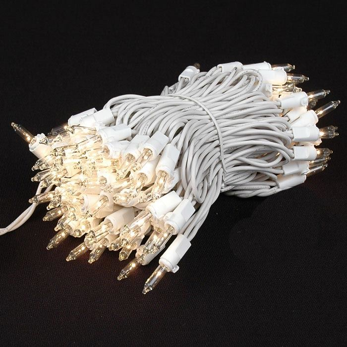 Picture of Clear 100 Light Random Twinkle Mini Lights 50' White Wire - Non Connectable