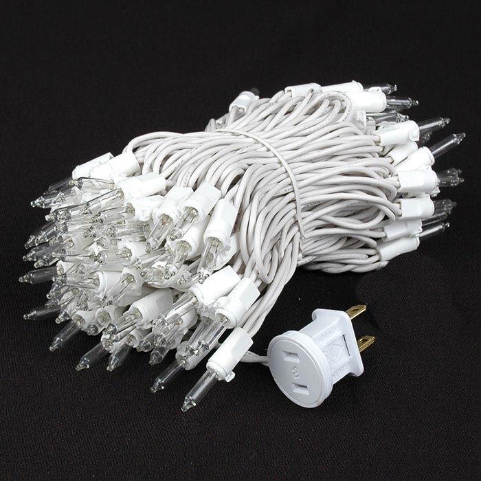 Random Twinkle Mini Lights White Wire Clear Bulbs - Novelty Lights Inc