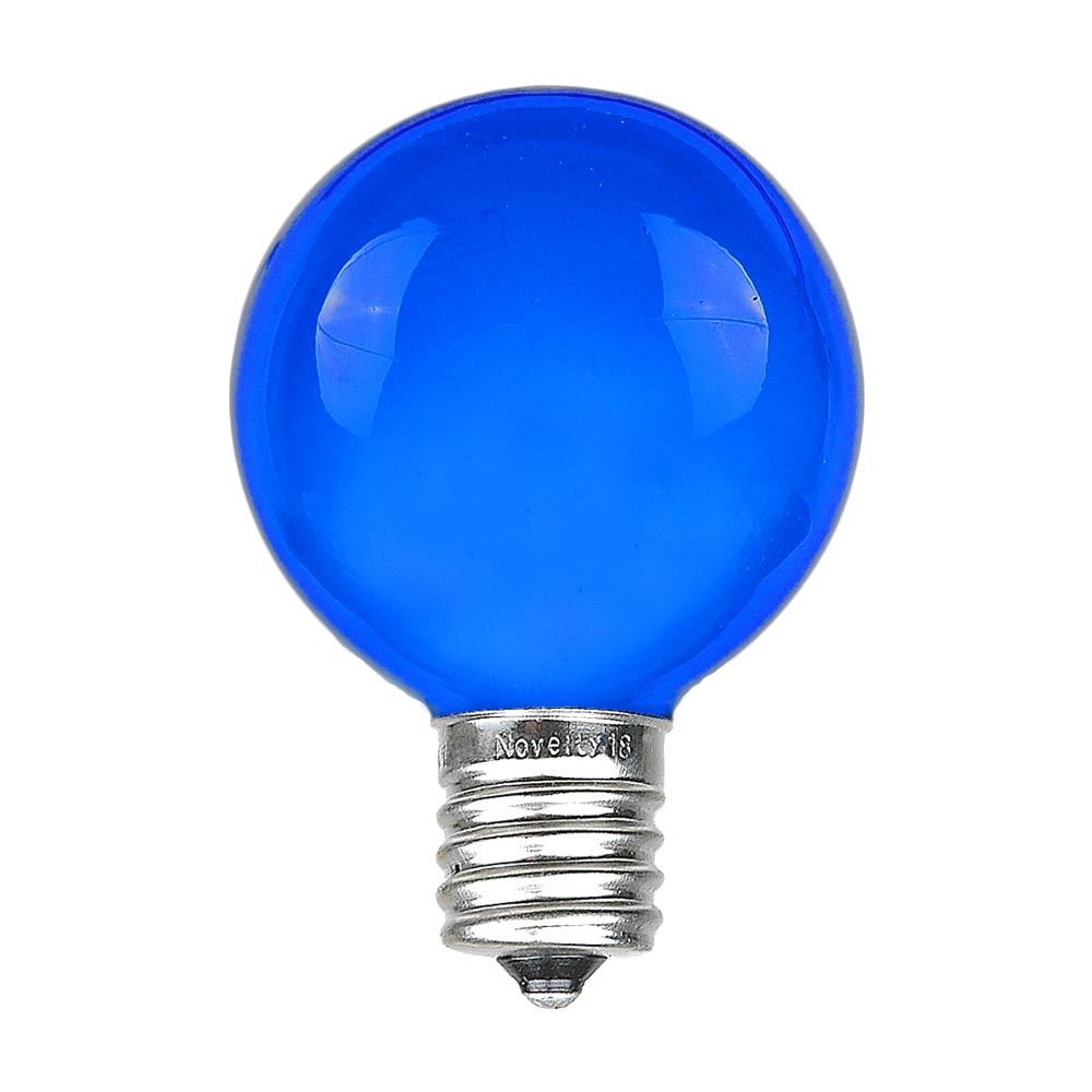 Picture of Blue Satin G50 7 Watt Replacement Bulbs 25 Pack Blue