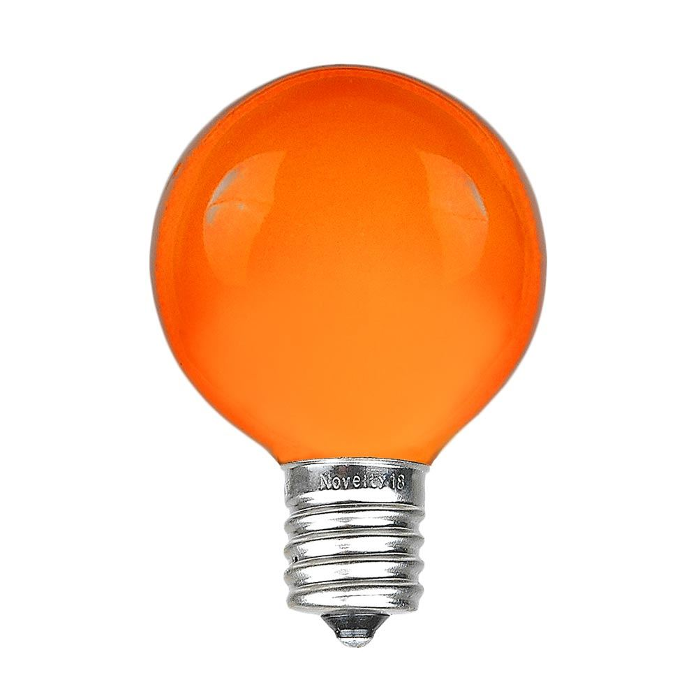 Picture of Amber Satin G50 7 Watt Replacement Bulbs 25 Pack