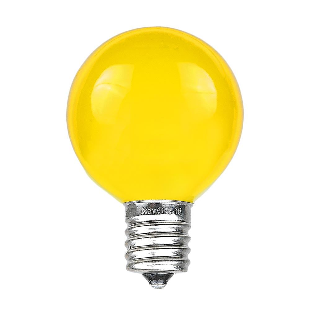 Picture of Yellow Satin G50 7 Watt Replacement Bulbs 25 Pack
