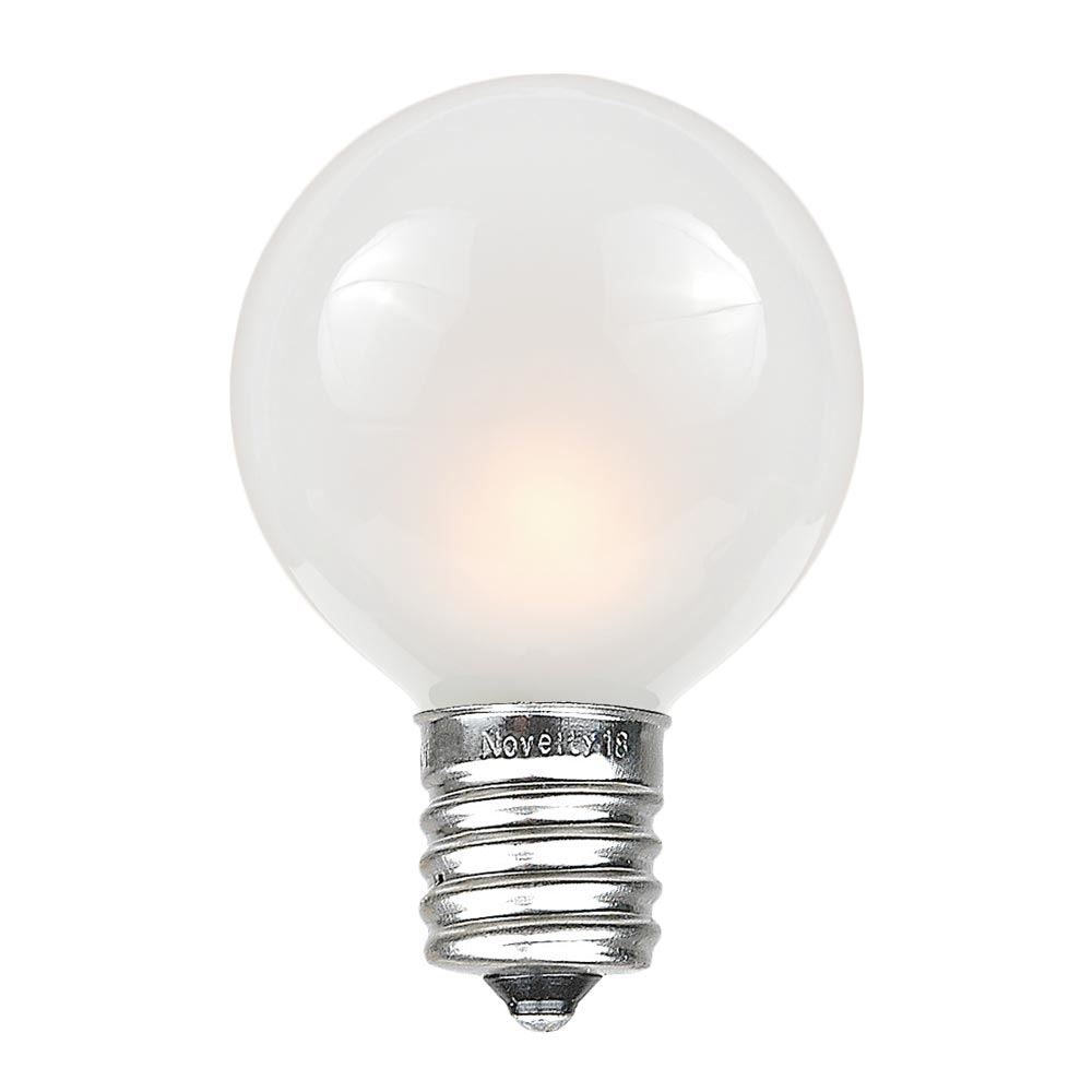 Picture of Frosted White G50 7 Watt Replacement Bulbs 25 Pack