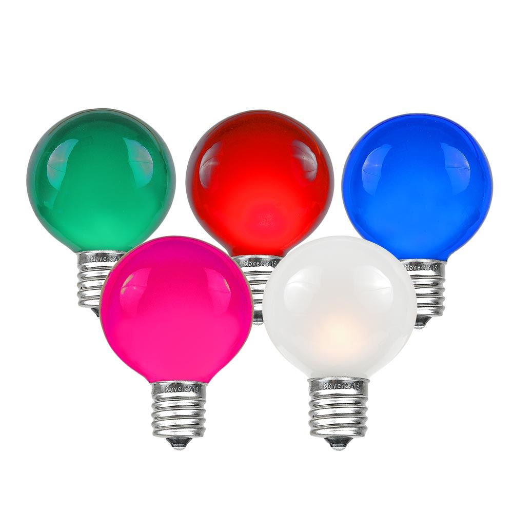 Picture of Assorted Satin G50 7 Watt Replacement Bulbs 25 Pack