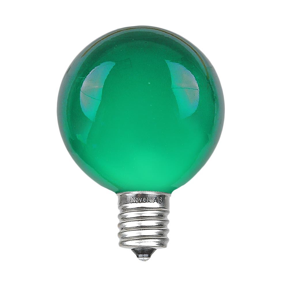Picture of Green G40 Globe Replacement Bulbs 25 Pack