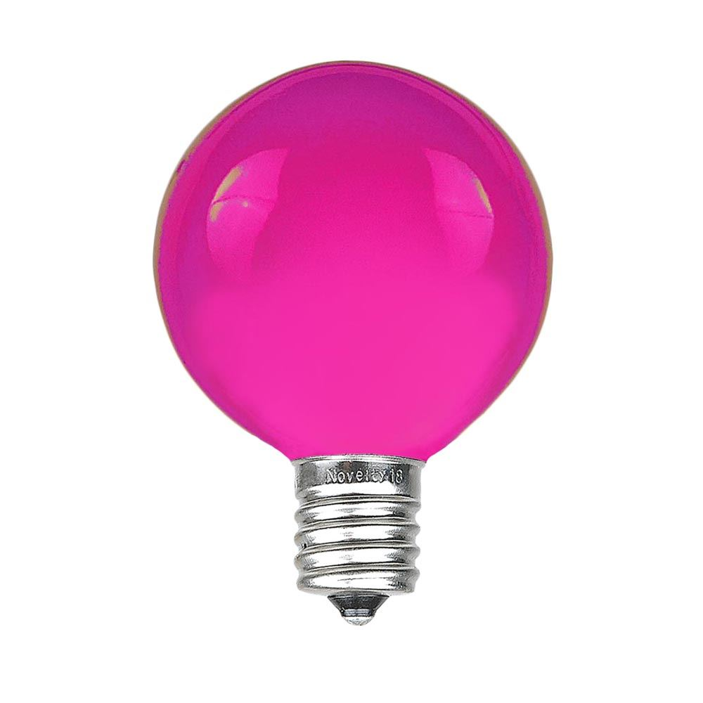 Picture of Purple G40 Globe Replacement Bulbs 25 Pack