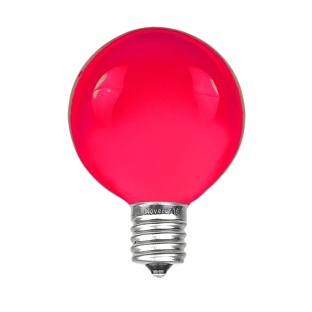 Picture of Pink G40 Globe Replacement Bulbs 25 Pack