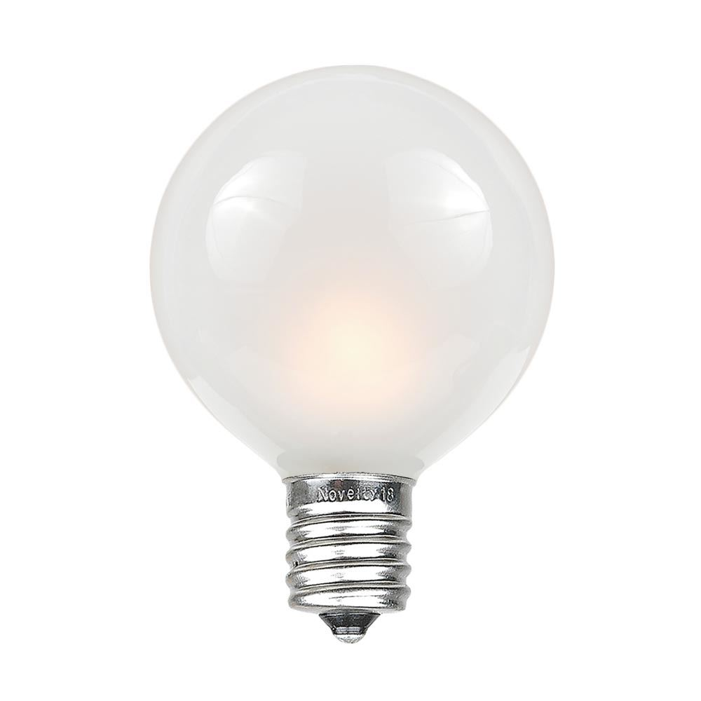 Frosted White G40 Globe Replacement Lamps Novelty Lights Inc