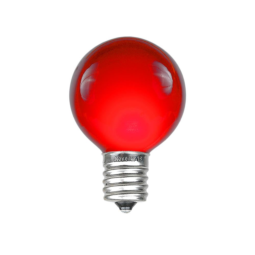 Picture of Red Satin G30 5 Watt Replacement Bulbs 25 Pack