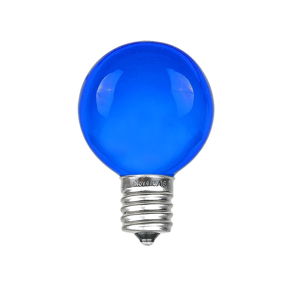 Picture of Blue Satin G30 5 Watt Replacement Bulbs 25 Pack