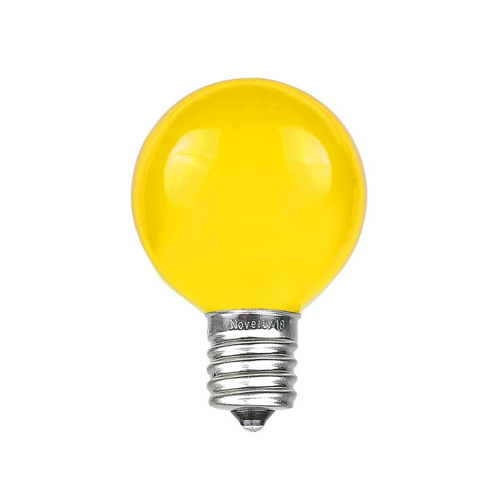 Picture of Yellow Satin G30 5 Watt Replacement Bulbs 25 Pack