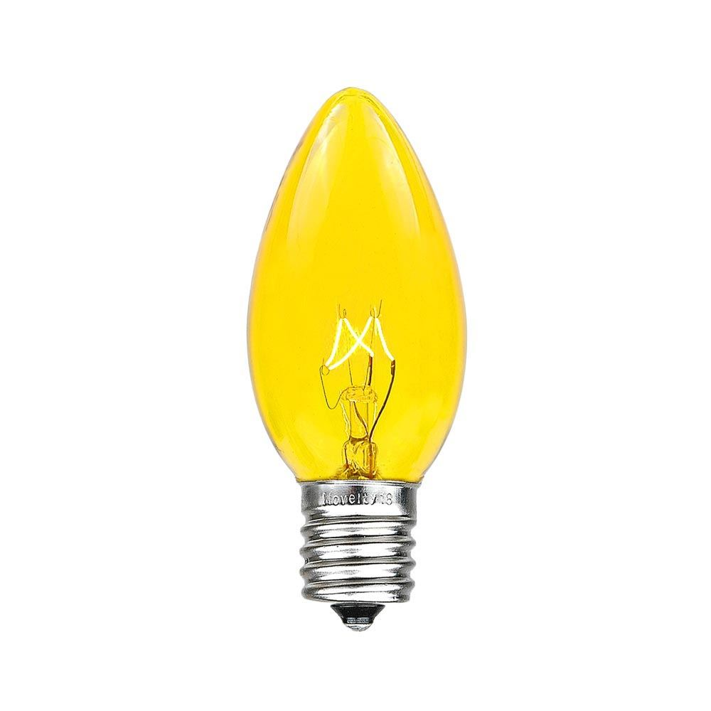 Picture of Yellow Transparent C9 7 Watt Replacement Bulbs 25 Pack