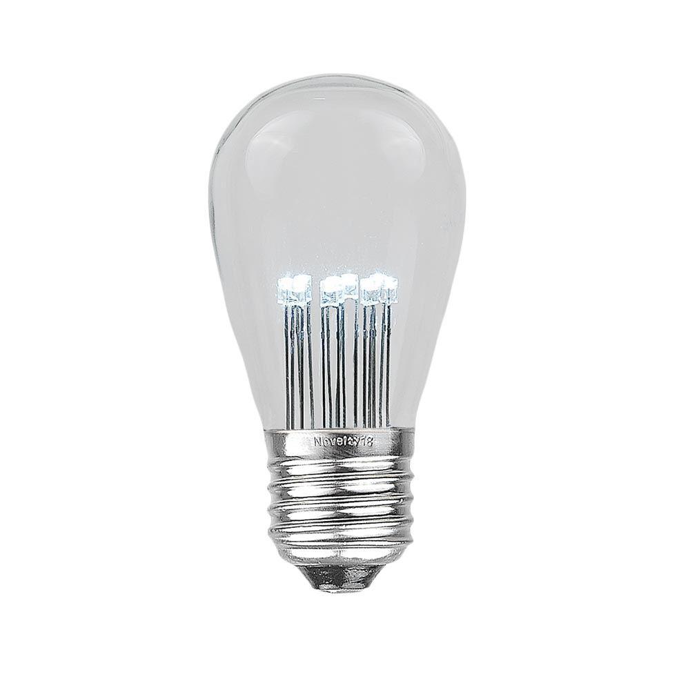 Picture of Pure White S14 LED Medium Base e26 Bulbs w/ 9 LEDs - 25pk