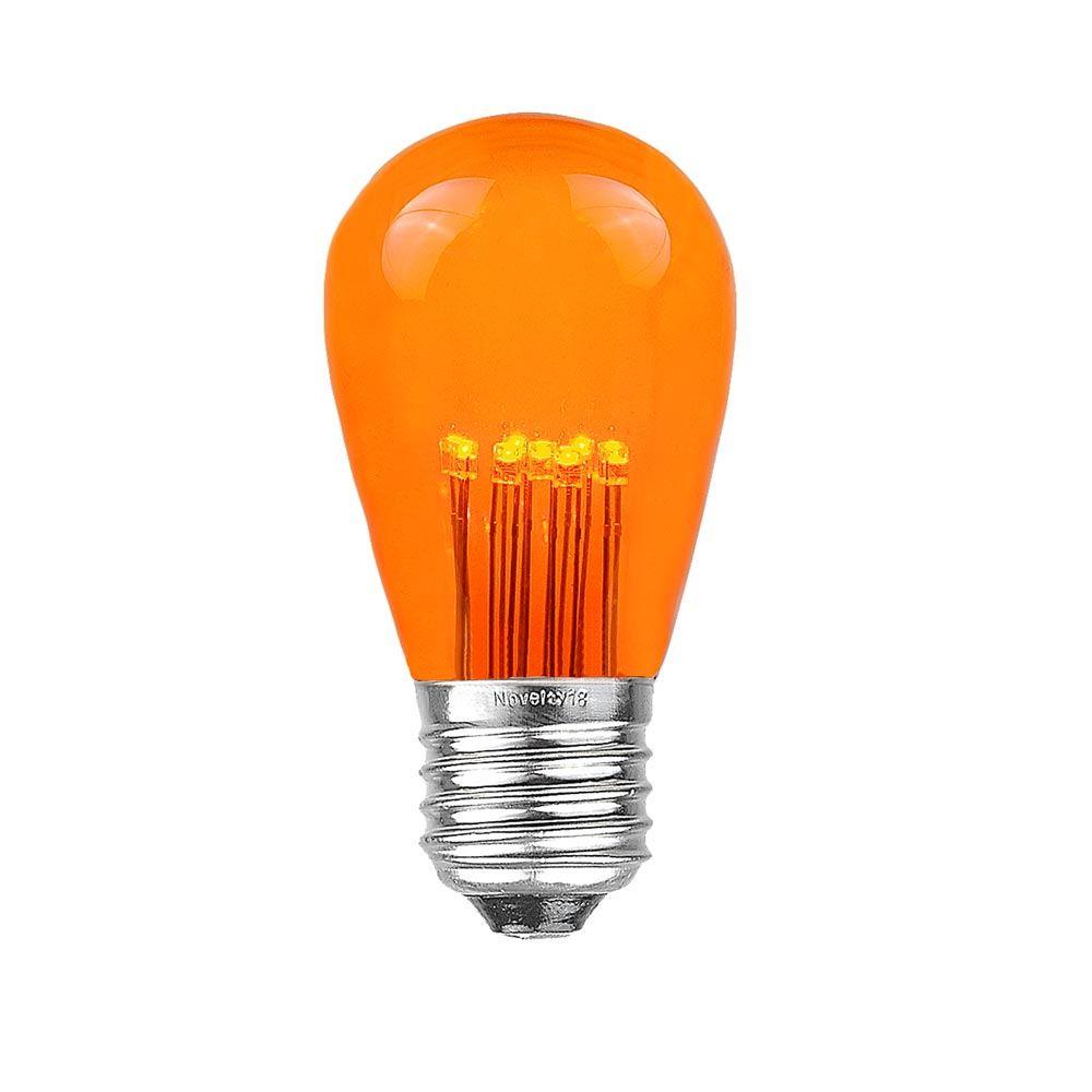 assorted multi color led s14 bulbs with 9 led 39 s novelty lights inc. Black Bedroom Furniture Sets. Home Design Ideas