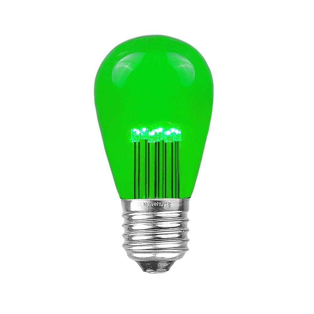Picture of Green S14 LED Medium Base e26 Bulbs w/ 9 LEDs - 25pk