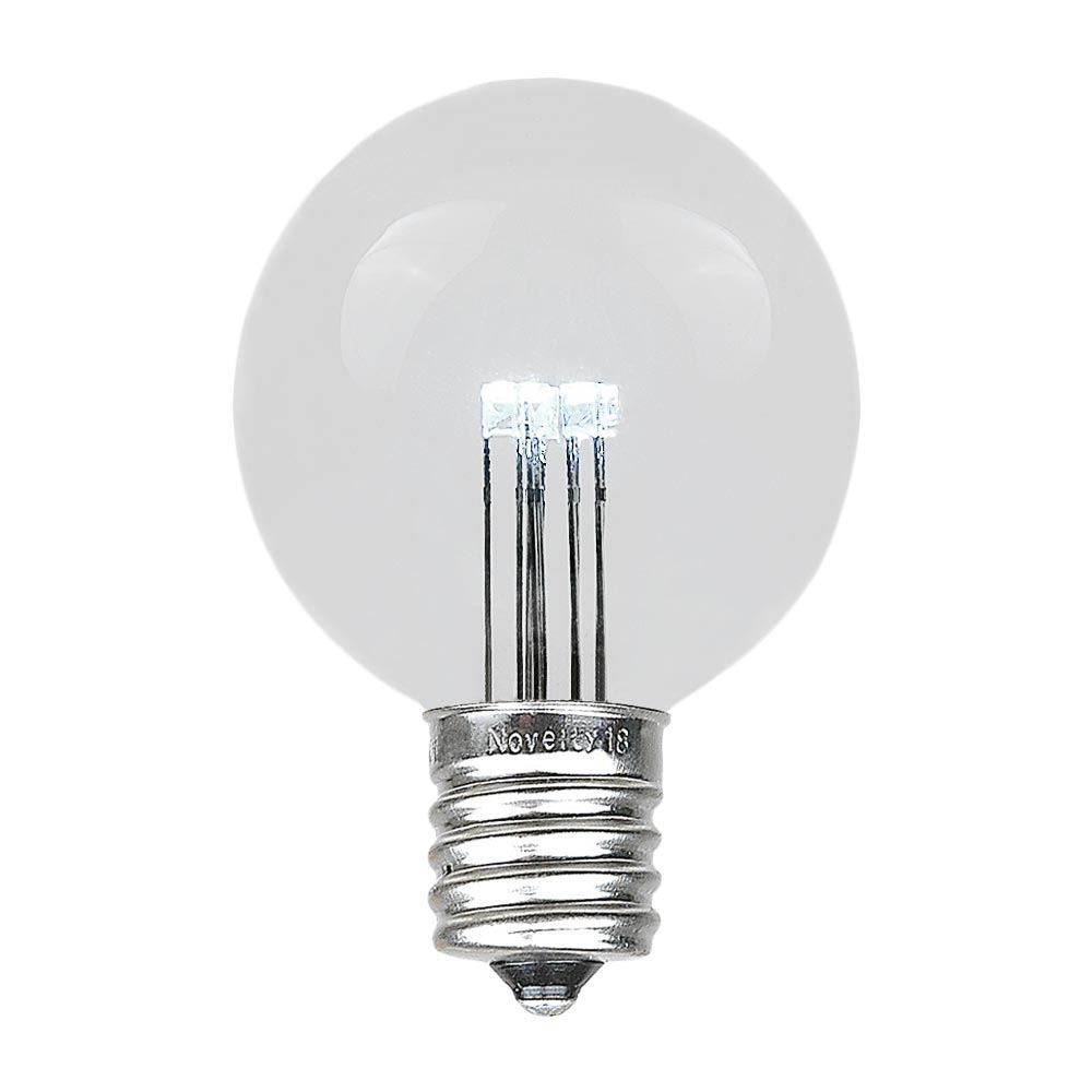 Picture of Pure White LED G50 Globe Bulbs - 25pk