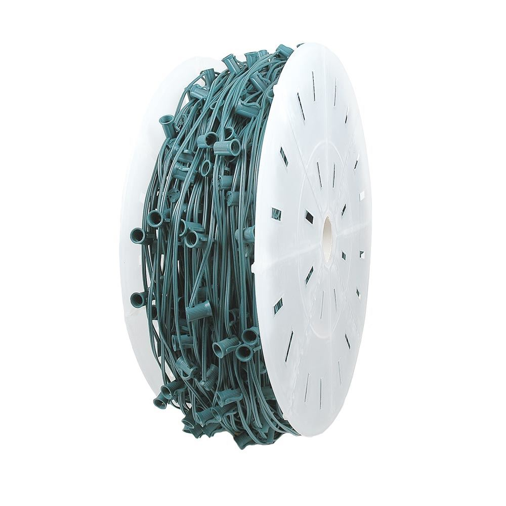 "Picture of C9 1000' Spool 18"" Spacing 8 Amp Green Wire"