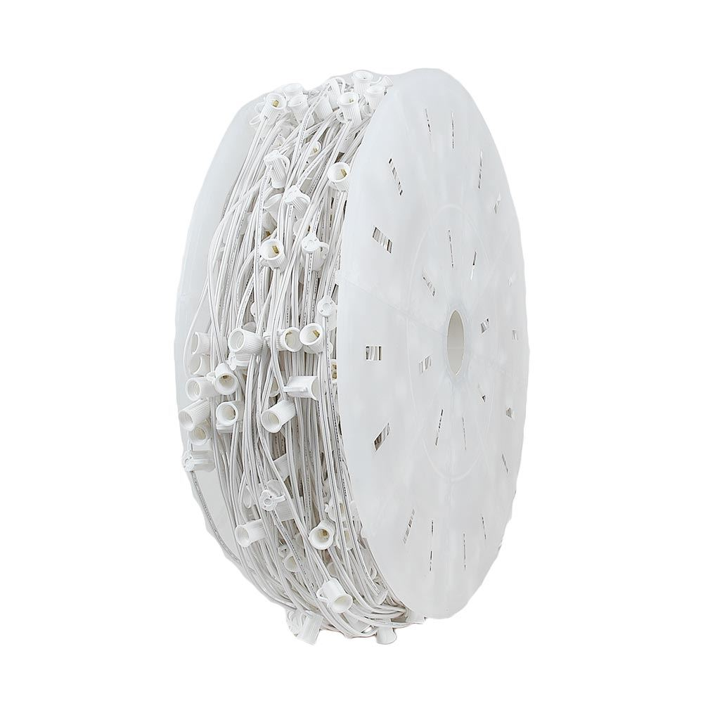 "Picture of 10 Amp C7 1000' Spool 24"" Spacing White Wire"