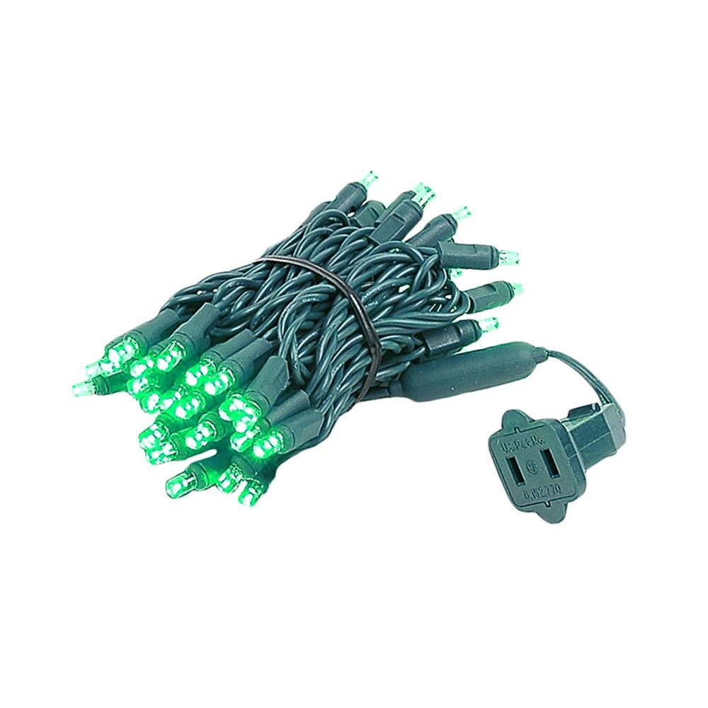 Picture of 50 LED Green LED Christmas Lights 11' Long
