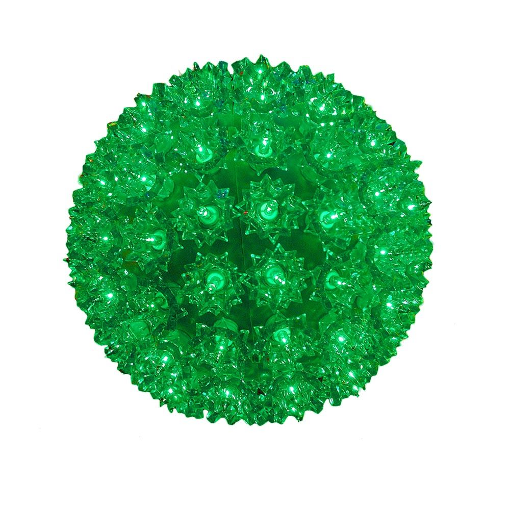 """Picture of Green 100 Light Starlight Sphere 7.5"""""""