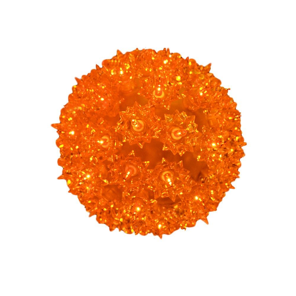 "Picture of Amber/Orange 50 Light Mini Starlight Sphere 6"""