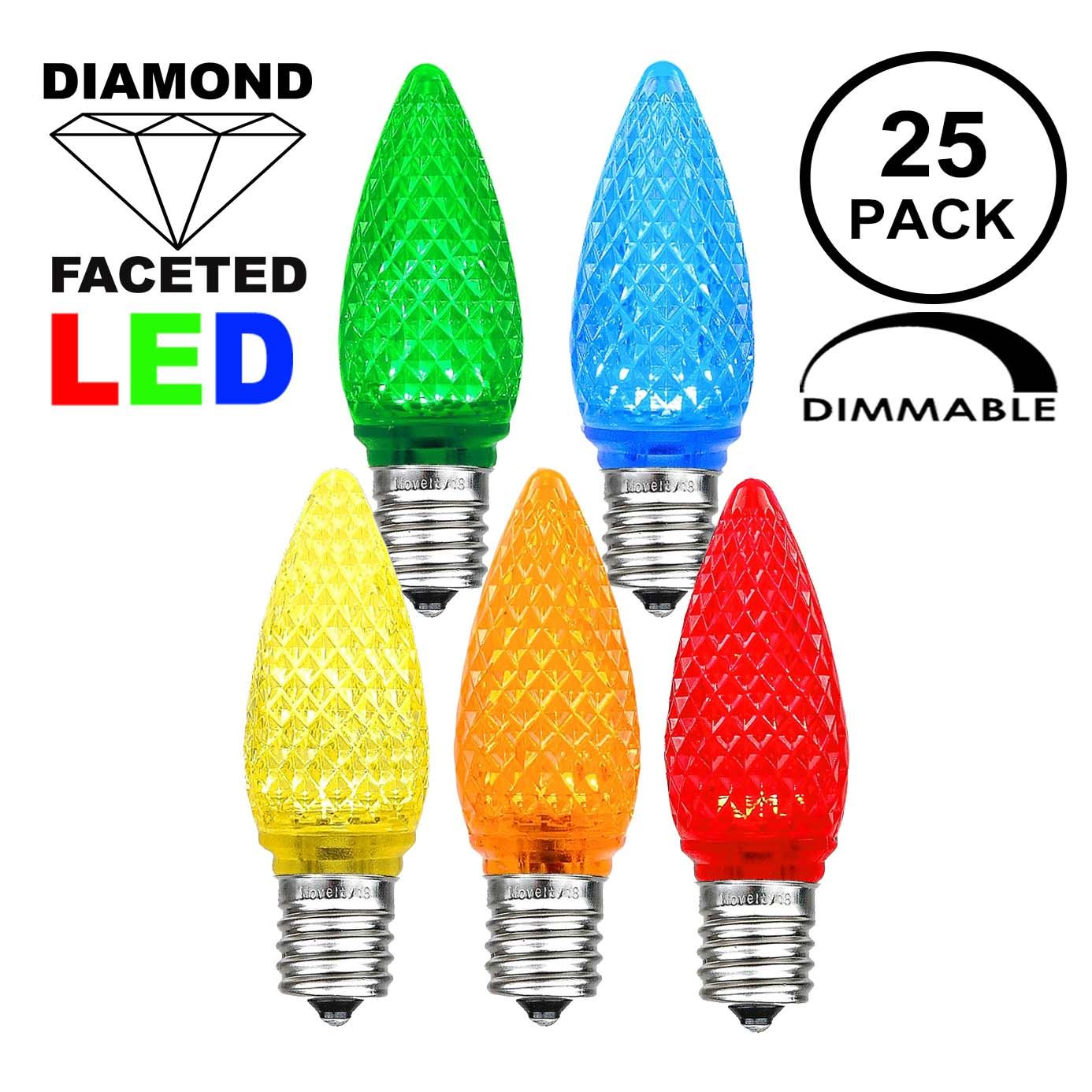 Picture of Multi C9 LED Replacement Bulbs 25 Pack