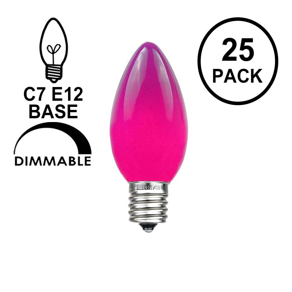 Picture of Purple Ceramic Opaque C7 5 Watt Replacement Bulbs 25 Pack