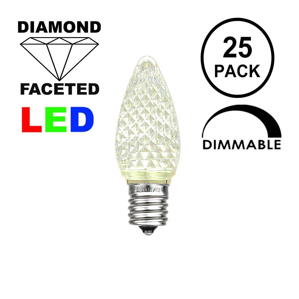 Picture of Warm White C7 LED Replacement Lamps 25 Pack