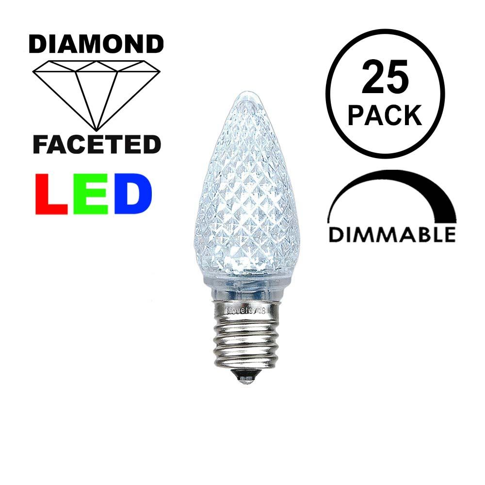 Picture of Pure White C7 LED Replacement Lamps 25 Pack