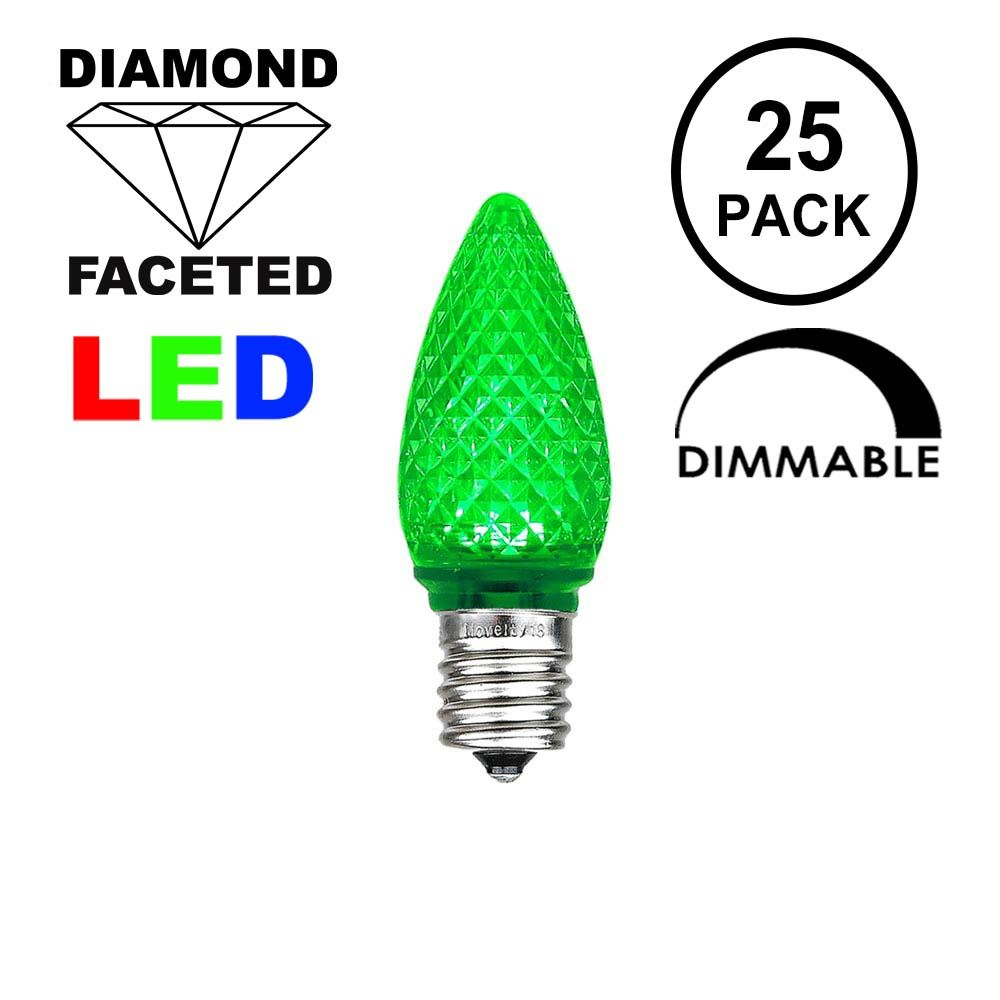 Picture of Green C7 LED Replacement Lamps 25 Pack