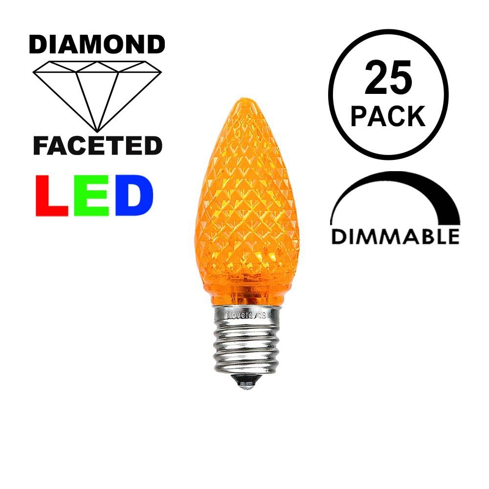 Picture of Amber C7 LED Bulbs 25 Pack **On Sale**