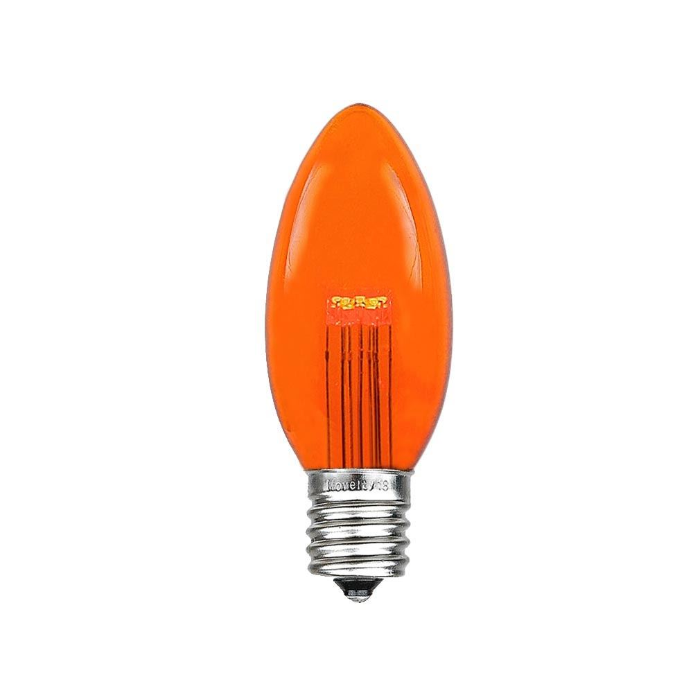 25 Pack C9 LED Outdoor Christmas Replacement Bulbs, Warm