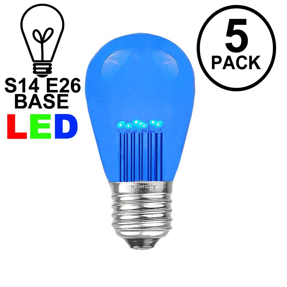 Picture of Blue S14 LED Medium Base e26 Bulbs w/ 9 LEDs - 5pk