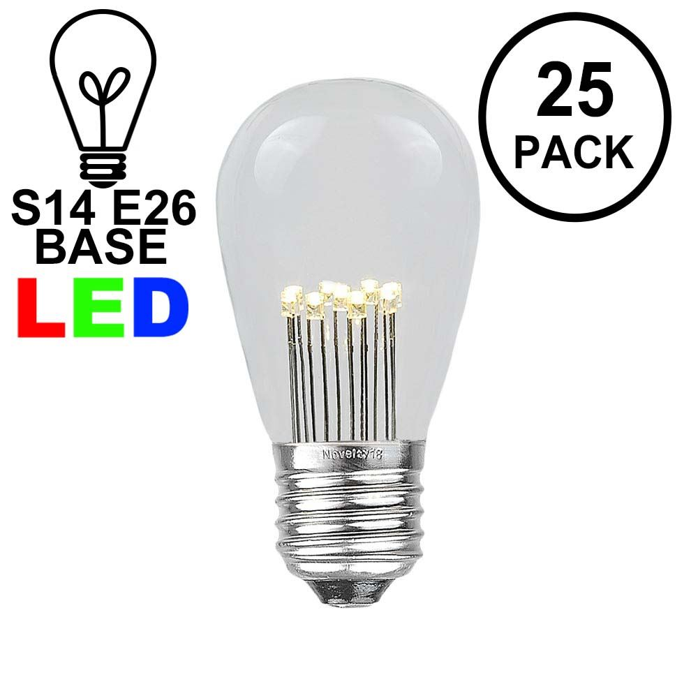 Picture of Warm White S14 LED Medium Base e26 Bulbs w/ 9 LEDs - 25pk